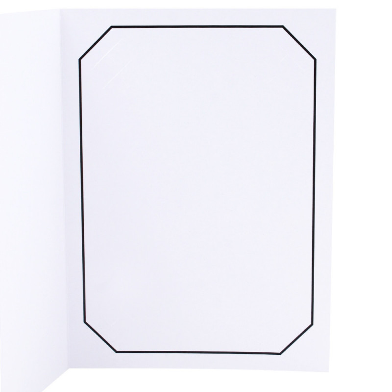 Cartonnage photo blanc - Octo liseré Noir