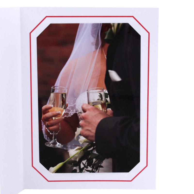 Cartonnage photo blanc - Octo Rouge
