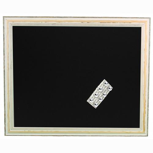 """Pêle-mêle magnétique """" Bois griffé blanc """" 40X50 Fond noir"""