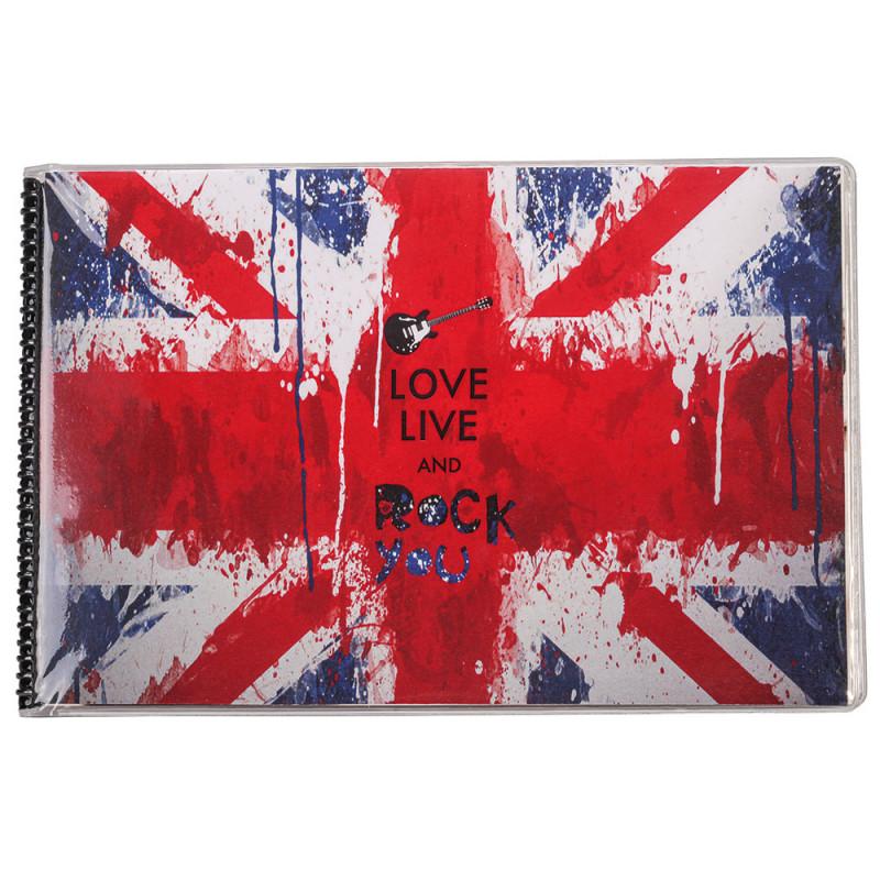 "MINI ALBUM PHOTO A POCHETTES ""LONDON ROCK"" POUR 24 PHOTOS 11,5x15"