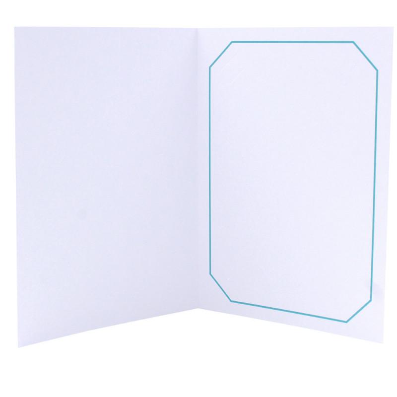 Cartonnage photo blanc - Octo Turquoise