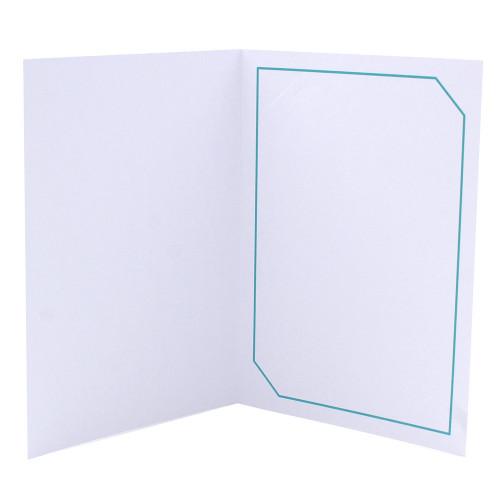 Cartonnage photo blanc - Hayange Turquoise