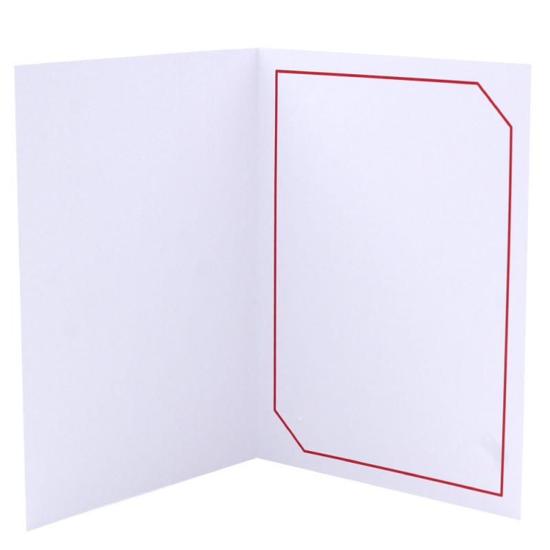 Cartonnage photo blanc - Hayange Rouge