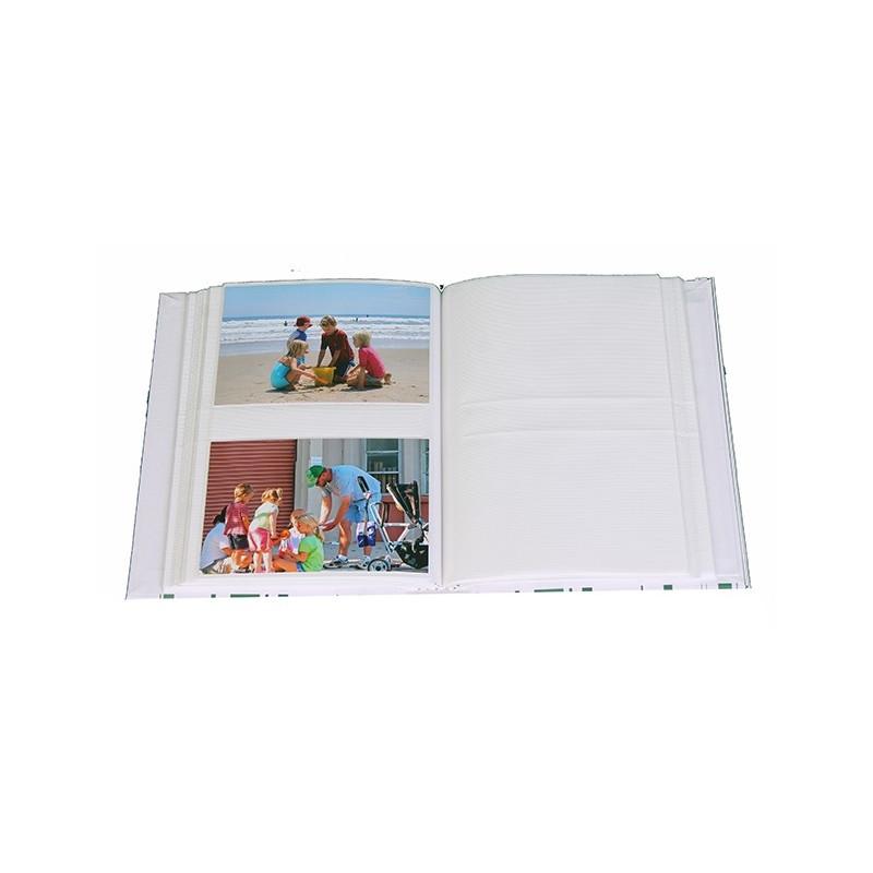 ALBUM-PHOTO-COLOR-STRIPES-VERT-200-POCHETTES-10X15-OUVERT