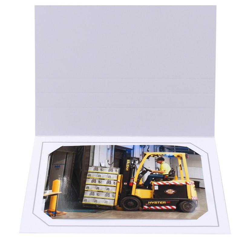 Cartonnage photo blanc - Serémange Gris