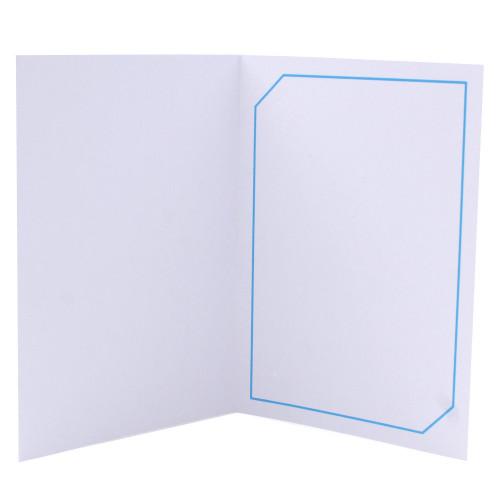 Cartonnage photo blanc - Serémange Bleu clair