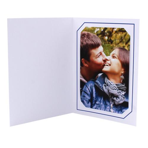 Cartonnage photo blanc - Serémange Bleu foncé