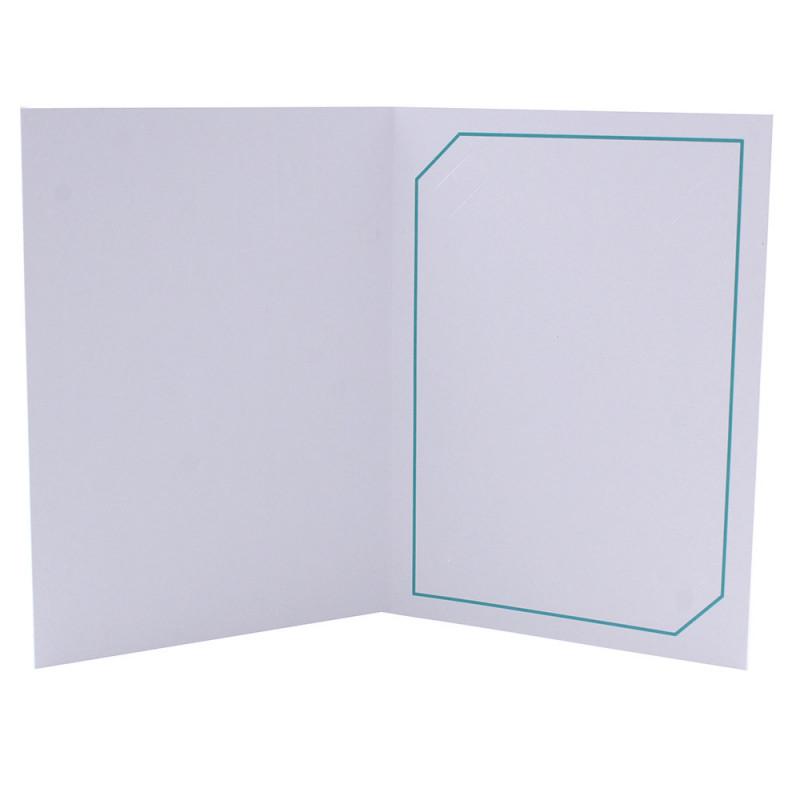 Cartonnage photo blanc - Serémange Turquoise