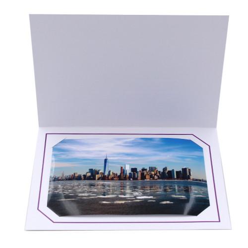 Cartonnage photo blanc - Serémange Violet