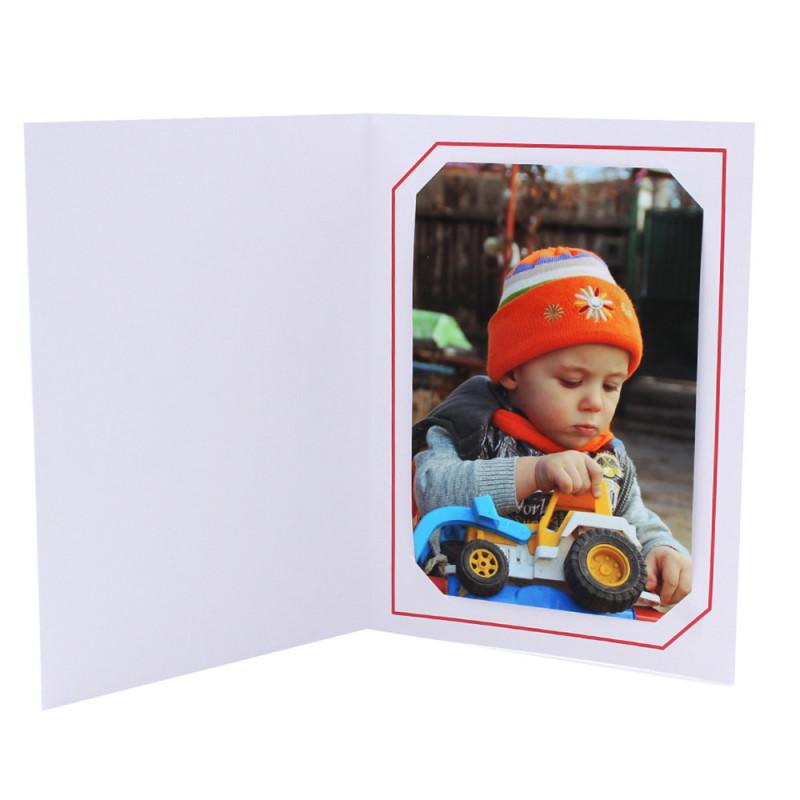 Cartonnage photo blanc - Serémange Rouge