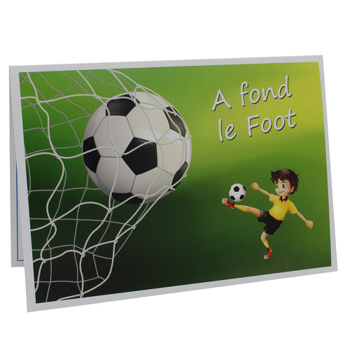 Cartonnage photo scolaire - Groupe 20x30 - A fond le foot
