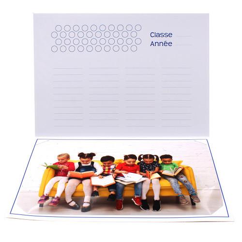 Cartonnage photo scolaire - Groupe 20x30 - Il était une fois