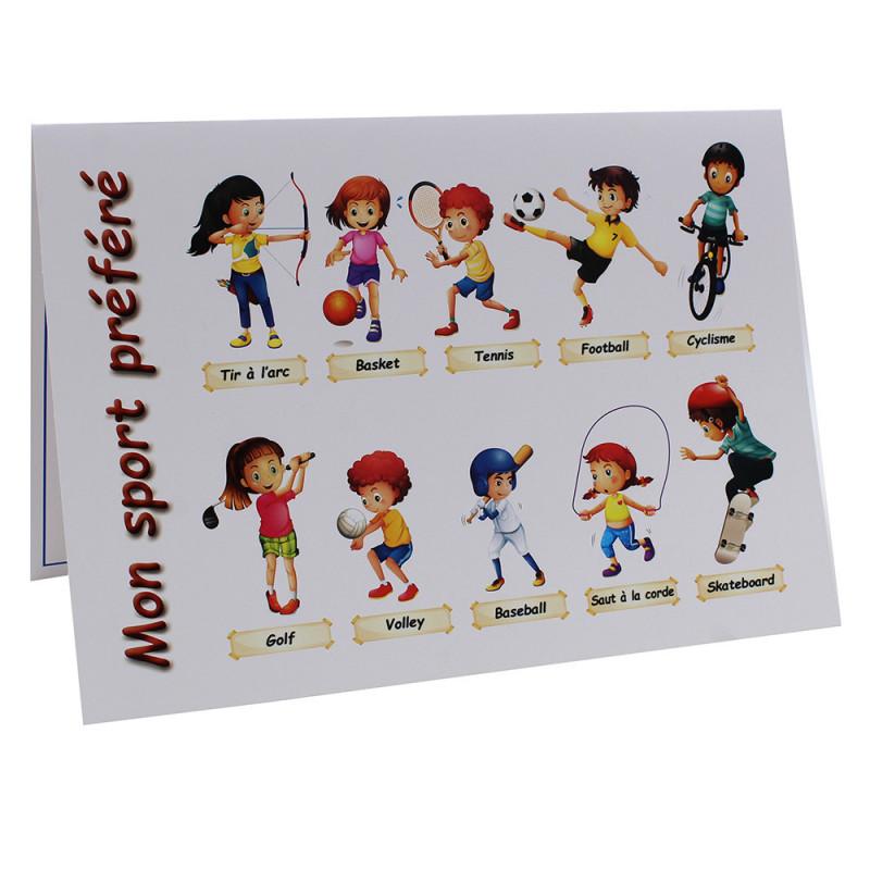 Cartonnage photo scolaire - Groupe 20x30 - Mon Sport préféré