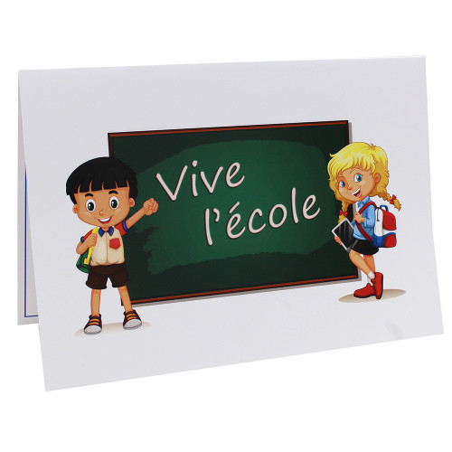 Cartonnage photo scolaire - Groupe 20x30 - Vive l'Ecole