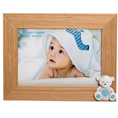 Cadre photo enfant Baby Bear 13x18 bleu