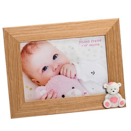 Cadre photo enfant Baby Bear 13x18 rose