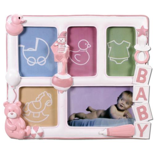 Cadre multivues enfant Baby Bear- Rose