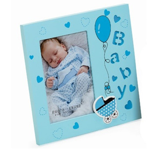 Cadre photo enfant Baby Angel 10x15 Bleu