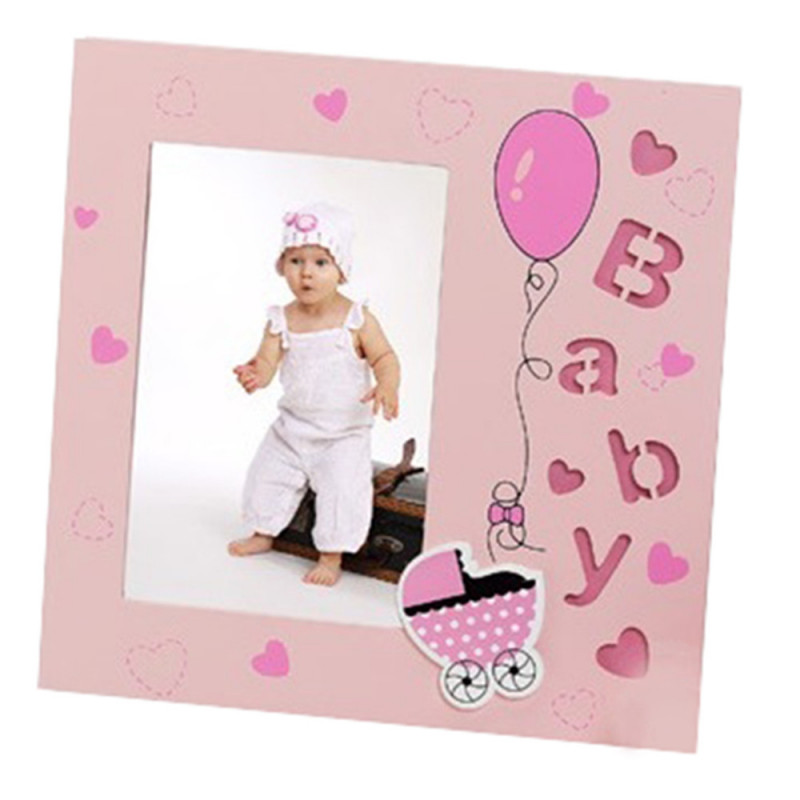 Cadre photo enfant Baby Angel 10x15 Rose
