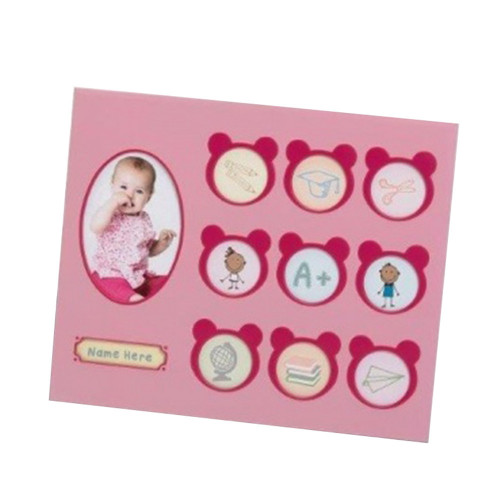 Cadre Multivues enfant Happy Child rose
