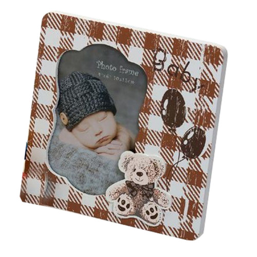 Cadre photo enfant Baby &Toys 10x15 brun
