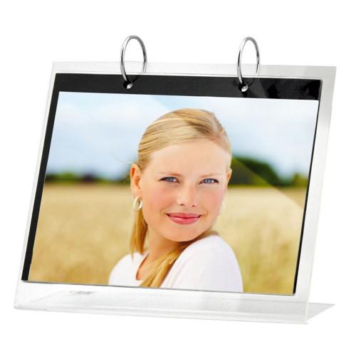 Chevalet porte photo en résine transparente 13x18