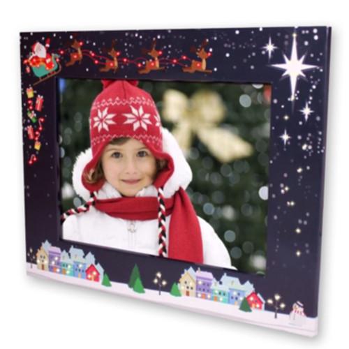 Cadre photo lumineux carton Noel 15x20