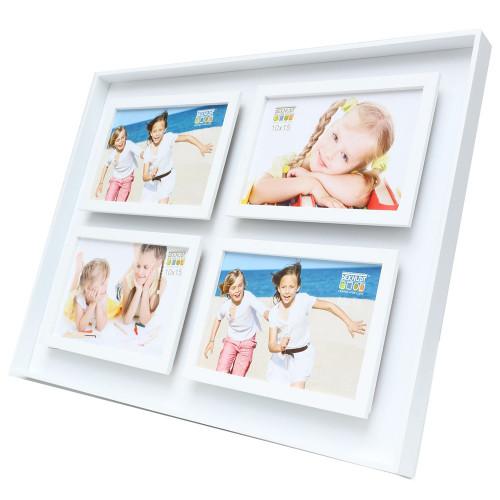 Cadre pêle-mêle Blanc pour 4 photos 10x15