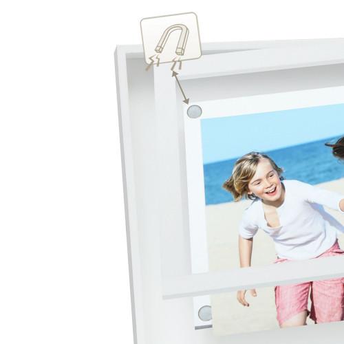 Cadre pêle-mêle Blanc pour 4 photos 10x15 - détail