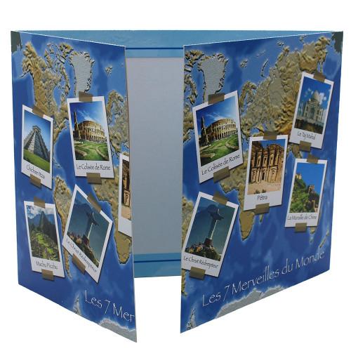Cartonnage photo triptyque 13x18+18x24+pochette - Leçon