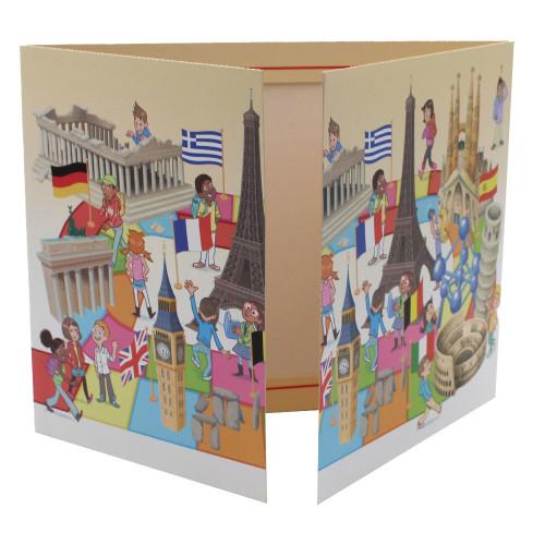 Cartonnage photo triptyque 13x18+18x24+pochette - Europe