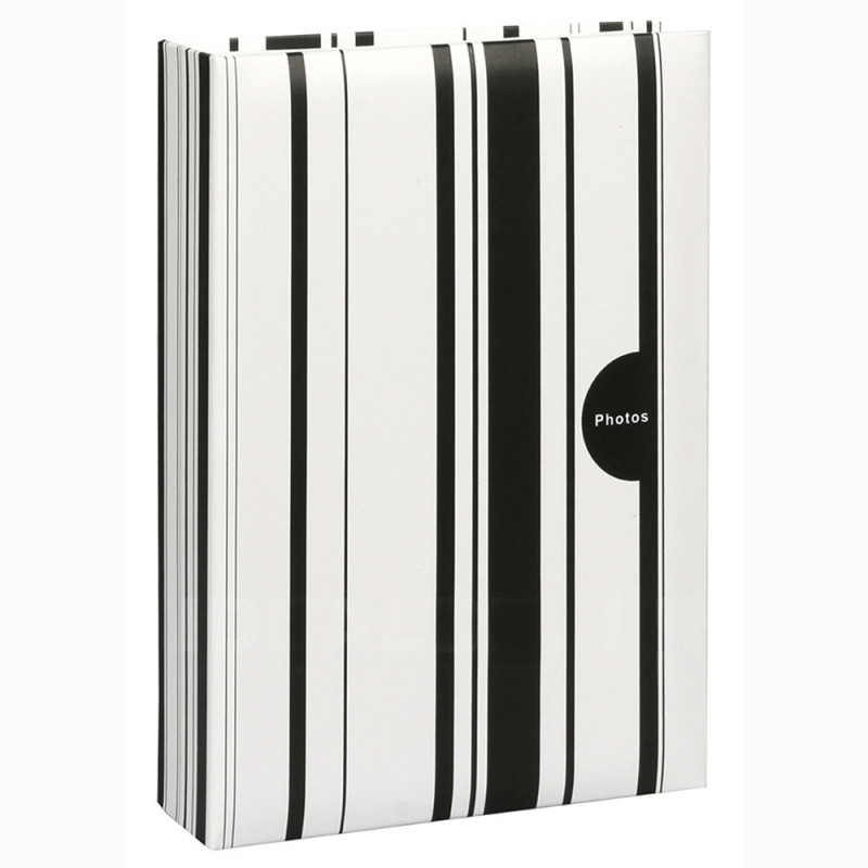 ALBUM-PHOTO-COLOR-STRIPES-NOIR-200-POCHETTES-10X15