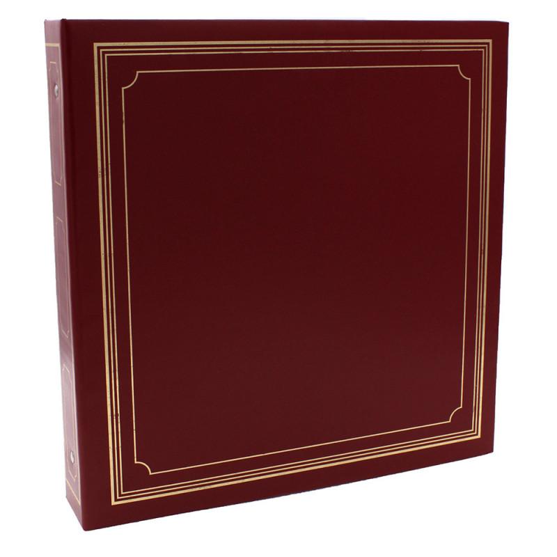 LOT-2-CLASSEURS-OCTO-400-POCHETTES-10x15-FACE-BORDEAUX