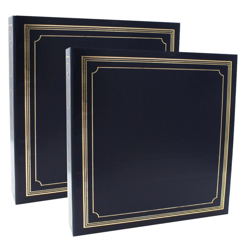 LOT-2-CLASSEURS-OCTO-400-POCHETTES-10x15-BLEU