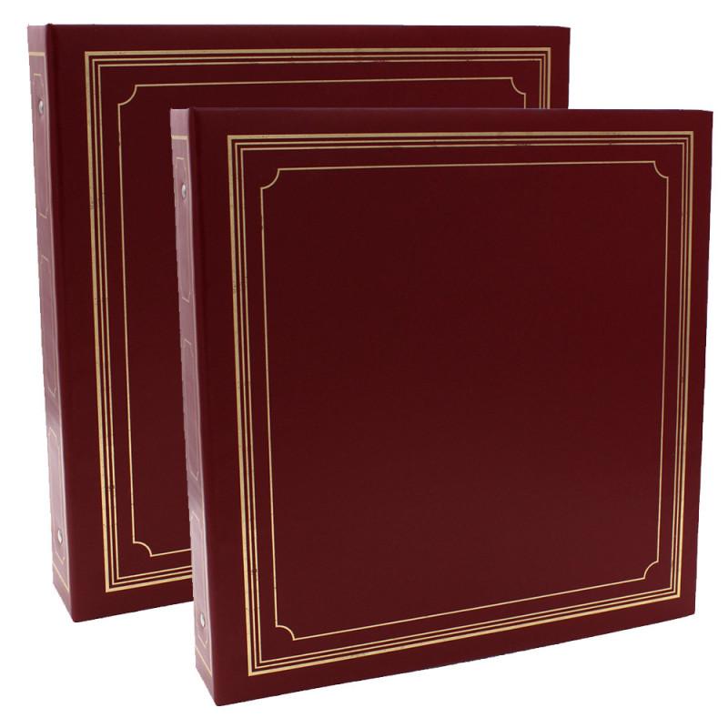 LOT-2-CLASSEURS-OCTO-400-POCHETTES-10x15-BORDEAUX