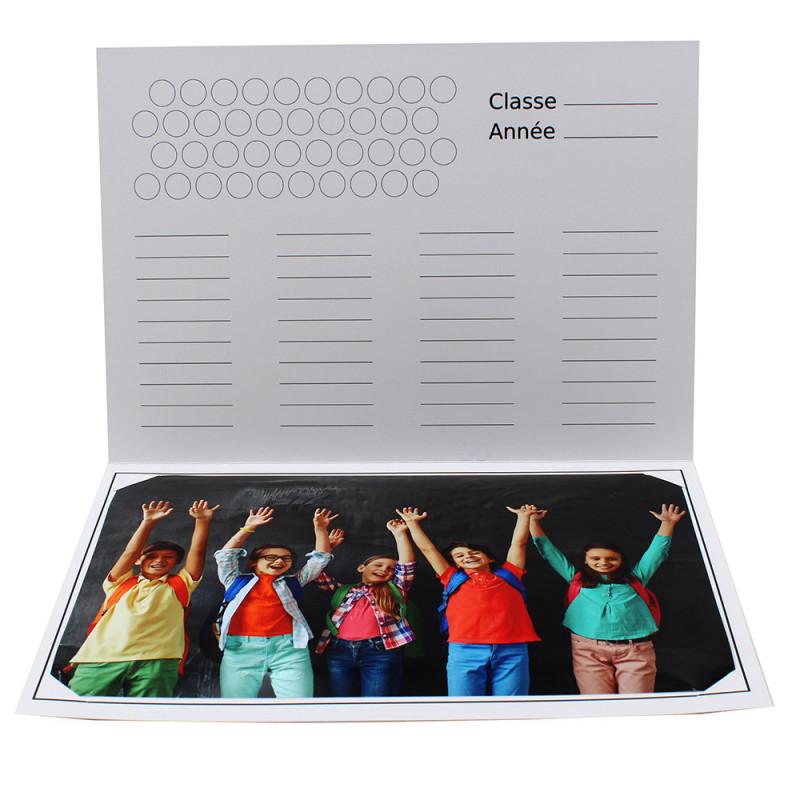 Cartonnage photo scolaire - Groupe 20x30 - Tous au Tableau