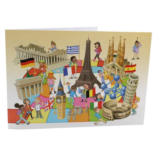 Cartonnage photo scolaire - Groupe 20x30 avec RABAT - Europe