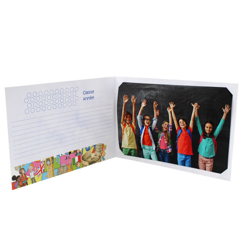 Cartonnage photo scolaire - Groupe 20x30 avec RABAT - Europe