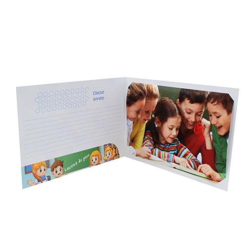 Cartonnage photo scolaire - Groupe 20x30 avec RABAT - Leçon
