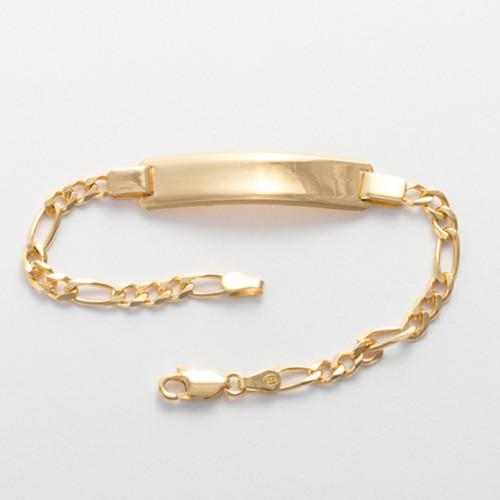 Bracelet en Argent 19 cm, plaqué or 585/1000 14 carats à graver