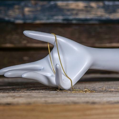 Chaîne fine avec mousqueton en Argent, plaqué or 14 carats