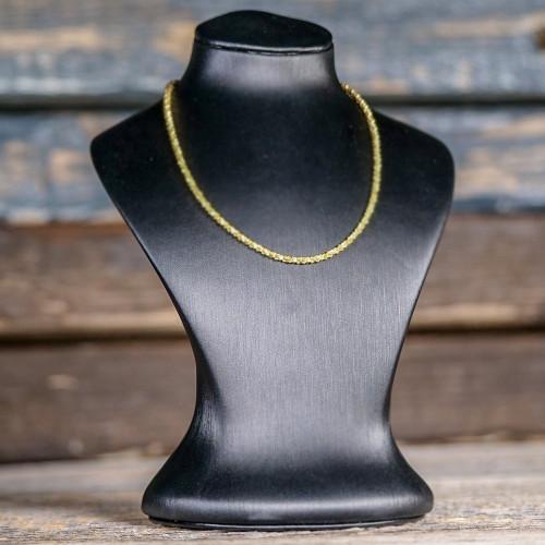 Chaîne avec anneau à ressort large en Argent, plaqué or 14 carats