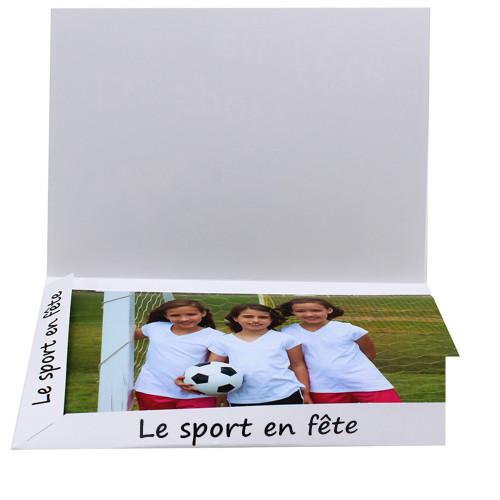 Cartonnage photo Combi A4 Le Sport en Fête - ouvert