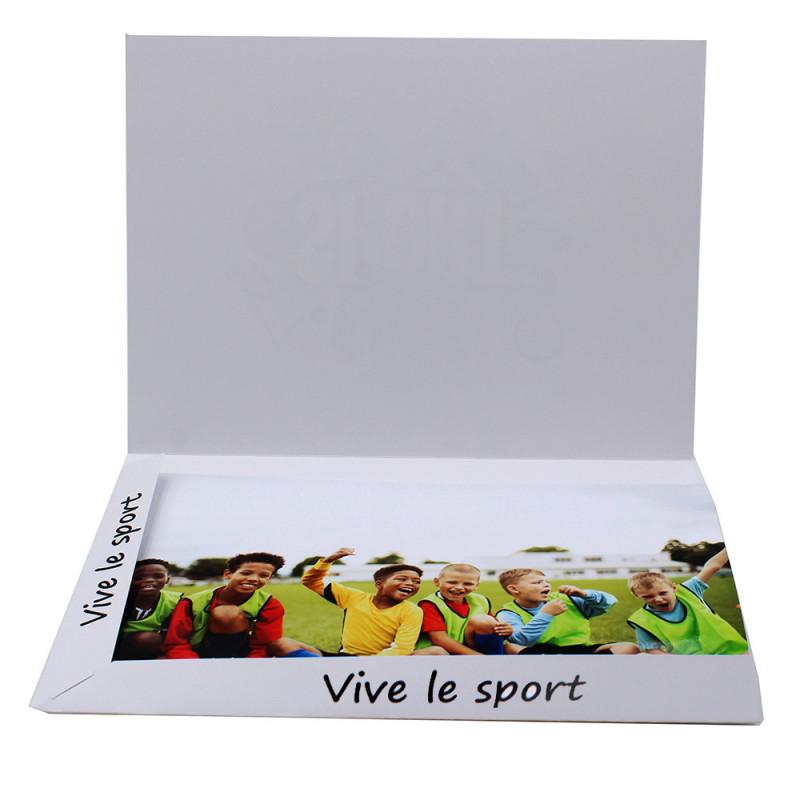 Cartonnage photo Combi A4 Vive le Sport - vide