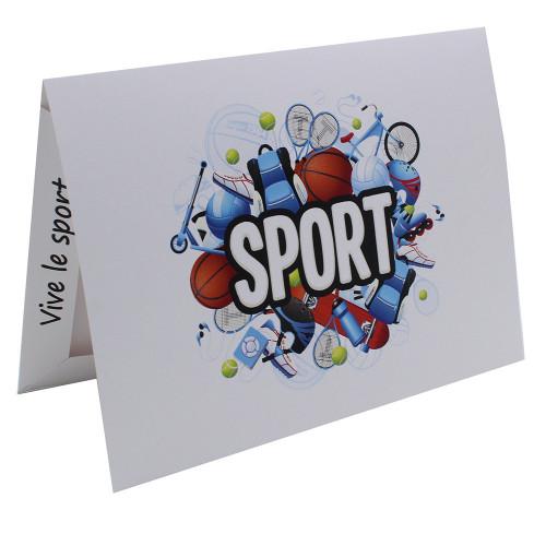 Cartonnage photo Combi A4 Vive le Sport
