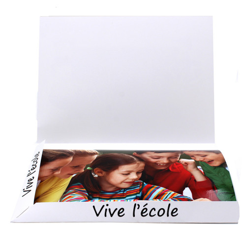 Cartonnage photo Combi A4 Vive l'Ecole New