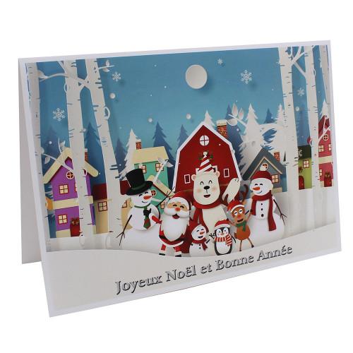 Cartonnage photo de Noël - Groupe 20x30 - Joyeux Noël et Bonne Année