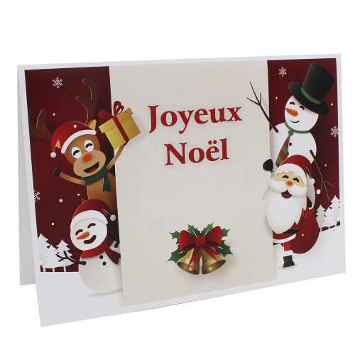 Cartonnage Père Noël - Groupe 20x30 - Joyeux Noël RG