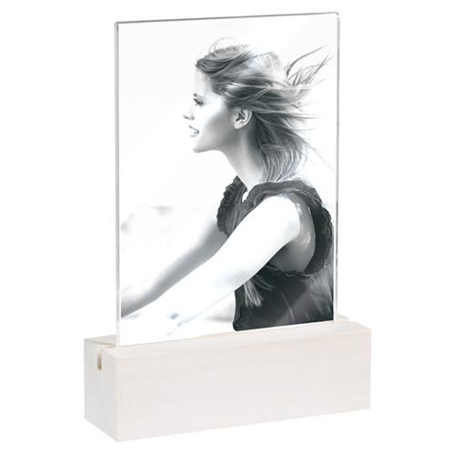 Cadre photo 10x15 vertical socle blanc