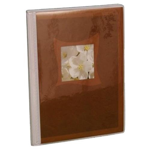 Mini album Fleurs brun Panodia rigide 24 pochettes 11X17